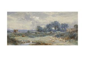A View on Holmwood Common, Surrey by Myles Birket Foster