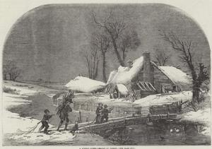 A Winter Scene by Myles Birket Foster