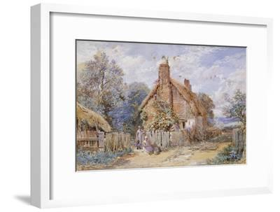 Children by a Thatched Cottage at Chiddingfold