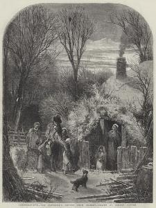 Christmas-Eve, the Cottager's Return from Market by Myles Birket Foster