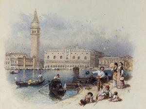 Doges Palace, Venice by Myles Birket Foster