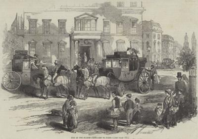 End of the Season, 1846, Off to Paris by Myles Birket Foster