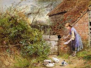 Feeding the Ducks by Myles Birket Foster