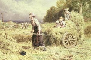Haytime, C.1860 by Myles Birket Foster