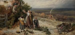 Holly Gatherers by Myles Birket Foster