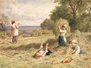 Landscape with Figures, C.1860 by Myles Birket Foster