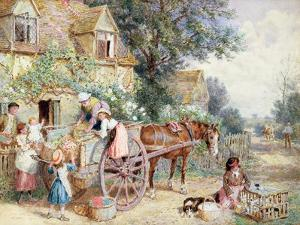 Loading the Cart for Market by Myles Birket Foster