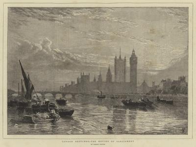 London Sketches, the Houses of Parliament by Myles Birket Foster
