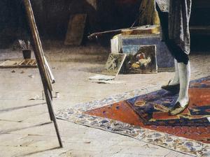 Londonio, the Painter, Detail by Myles Birket Foster
