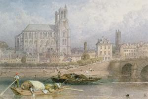 Nantes Cathedral from the River by Myles Birket Foster