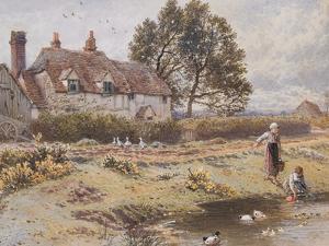 On the Common, Hambledon, Surrey, C.1865 by Myles Birket Foster