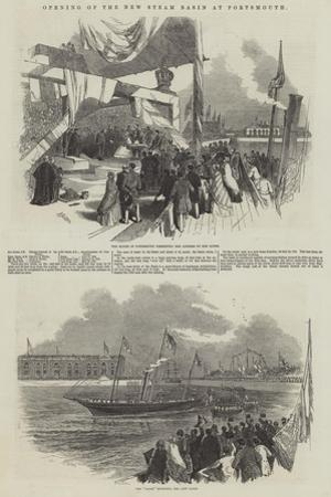 Opening of the New Steam Basin at Portsmouth by Myles Birket Foster