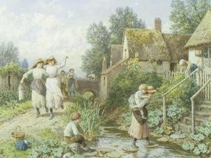 Out of School by Myles Birket Foster