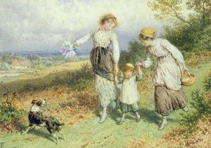 Returning from the Village, 19th Century by Myles Birket Foster