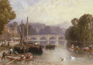 Richmond Bridge, 19th Century by Myles Birket Foster