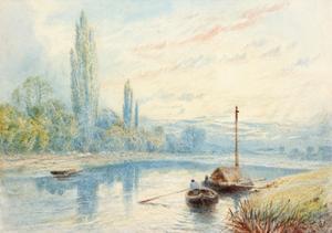River Scene by Myles Birket Foster