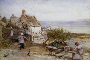 Runswick Bay, Yorkshire by Myles Birket Foster