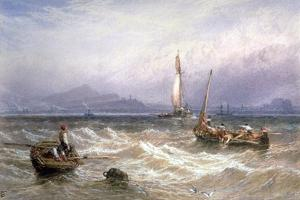 Seascape, 19th Century by Myles Birket Foster
