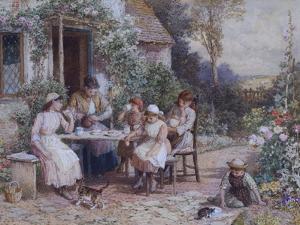 Teatime by Myles Birket Foster
