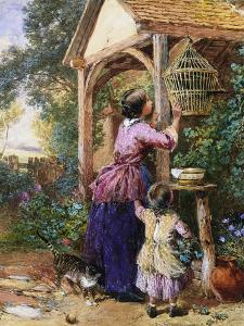 The Bird Cage by Myles Birket Foster