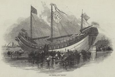 The Chinese Junk Keying by Myles Birket Foster