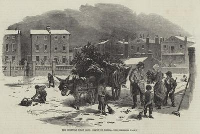 The Christmas Holly Cart by Myles Birket Foster