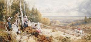 The Meet by Myles Birket Foster
