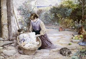 The New Baby by Myles Birket Foster
