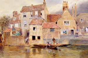 The Old Cottages at Eton by Myles Birket Foster