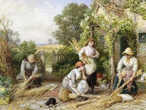 The Return of the Gleaners by Myles Birket Foster