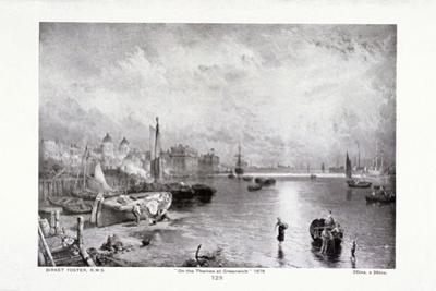 The River Thames at Greenwich, London, 1878 by Myles Birket Foster