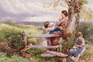 The Rustic Stile by Myles Birket Foster