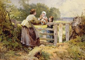 The Stile by Myles Birket Foster