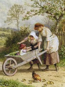 The Wheelbarrow by Myles Birket Foster