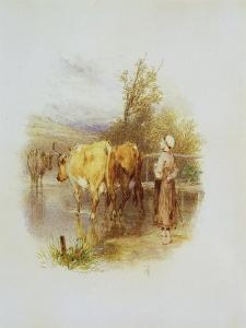 The Young Cowherd by Myles Birket Foster