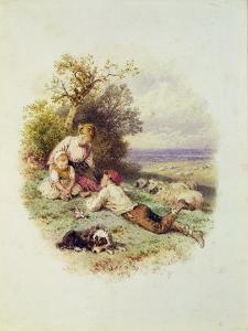 The Young Shepherd by Myles Birket Foster