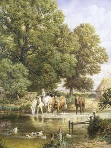 Watering the Horses by Myles Birket Foster