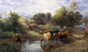Watering Time by Myles Birket Foster
