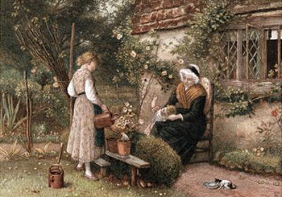 Youth and Age, 1866 by Myles Birket Foster