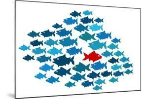 One Fish Swim In Opposite Direction, Dare To Be Different Concept by mypokcik