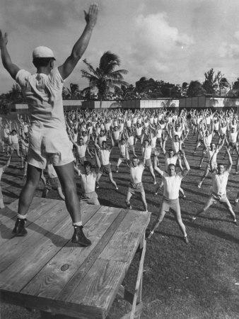 Army Recruits Doing Calisthenics