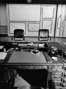 Maps and Furniture in Office That is Part of Suite of the Highest Ranking Officer at the Pentagon by Myron Davis