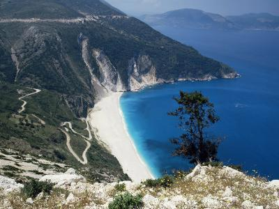 Myrtos Bay and Beach, Kefalonia, Ionian Islands, Greek Islands, Greece-Michael Short-Photographic Print