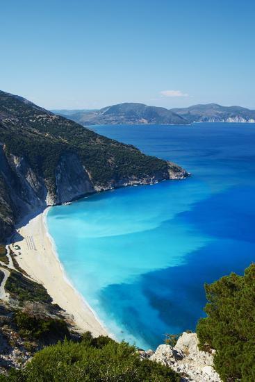 Myrtos Beach, Cephalonia, Ionian Islands, Greek Islands, Greece, Europe-Tuul-Photographic Print