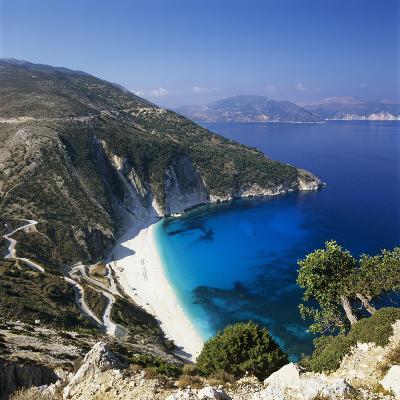Myrtos Beach, North-West Coast, Kefalonia, Ionian Islands, Greek Islands, Greece-Stuart Black-Photographic Print