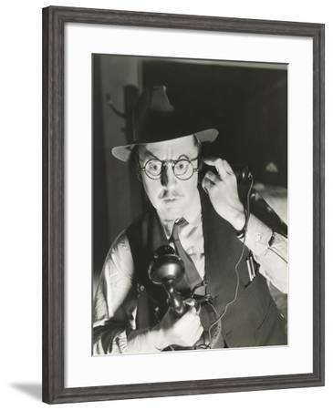 Mysterious Phone Call--Framed Photo