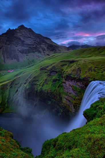 Mystery and Mood at Skógafoss, Waterfall Iceland-Vincent James-Photographic Print