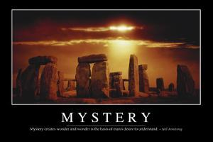 Mystery: Inspirational Quote and Motivational Poster