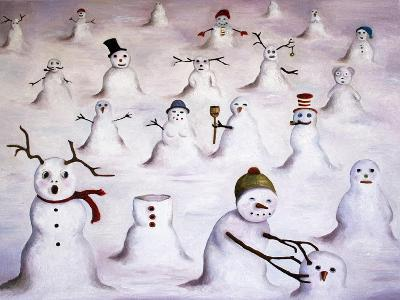 Mystery Revealed at Snowman Hill-Leah Saulnier-Giclee Print