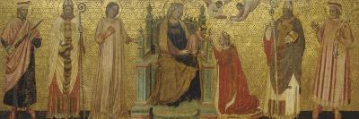 Mystic Marriage of Saint Catherine and Saints, 14th C--Art Print